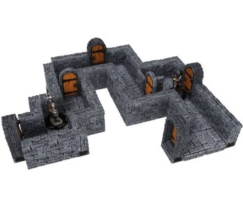 Warlock Tiles - 1 inch Dungeon Straight Walls Expansion