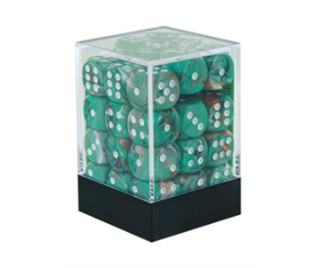 Marble 36 * D6 Oxi Copper / White 12mm  Chessex Dice (CHX27803)