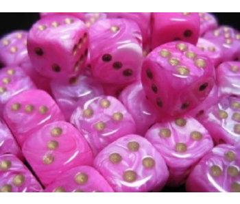 Vortex 36 * D6 Pink / Gold 12mm Chessex Dice (CHX27854)