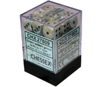 Marble 36 * D6 Green / Dark Green 12mm Chessex Dice (CHX27809)