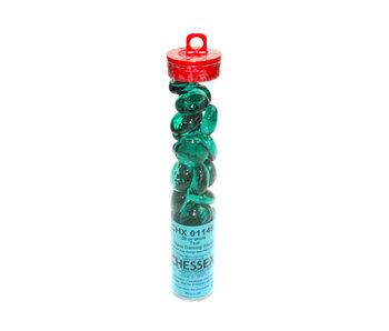 Glass Stones Teal (Qty 20+) 5.5 inches Tube Chessex (CHX01146)