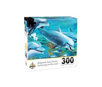 Puzzle Baignade dans l`océan (300 pcs)