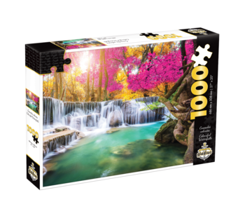 Puzzle Cascades colorées (1000 pcs)