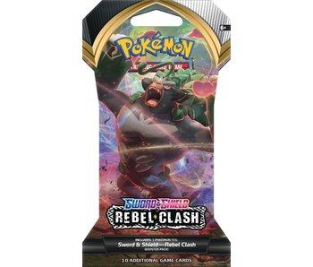 Sleeved Pokemon Swsh2 Rebel Clash Booster Pack