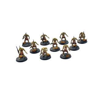 DAEMONS OF NURGLE 10 Plaguebearers of Nurgle #2 WELL PAINTED Warhammer