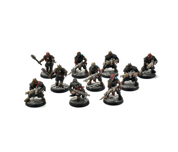 CHAOS SPACE MARINES 10 Chaos Cultists #1 PRO PAINTED Warhammer 40k