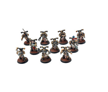 CHAOS SPACE MARINES 10 Chaos Space Marines #1 PRO PAINTED 40k
