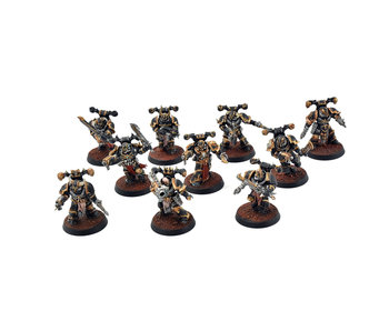 CHAOS SPACE MARINES 10 Chaos Space Marines #2 PRO PAINTED 40k
