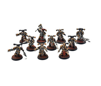 CHAOS SPACE MARINES 10 Chaos Space Marines #3 PRO PAINTED 40k