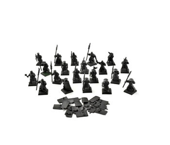 BRETONNIA 20 Men at Arms #3 Warhammer Fantasy PLASTIC