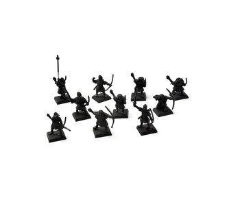 BRETONNIA 10 Squire Archer Bowmen METAL Command #1 Fantasy