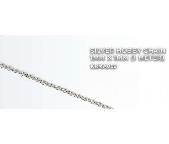 Silver Hobby Chain 1mm X1mm (1 meter) (KRMA089)
