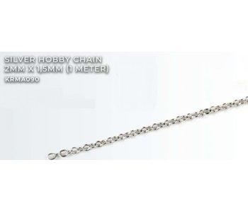 Silver Hobby Chain 2mm X1.5mm (1 meter) (KRMA090)