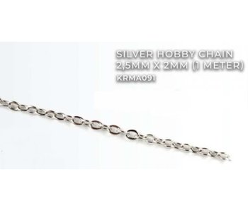 Silver Hobby Chain 2.5mm X2mm (1 meter) (KRMA091)