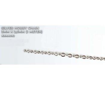 Silver Hobby Chain 3mm X2.5mm (1 meter) (KRMA092)