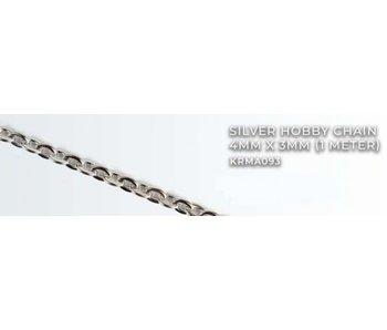 Silver Hobby Chain 4mm X3mm (1 meter) (KRMA093)