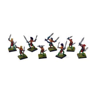 WOOD ELVES 8 Wardancers #1 METAL Warhammer Fantasy