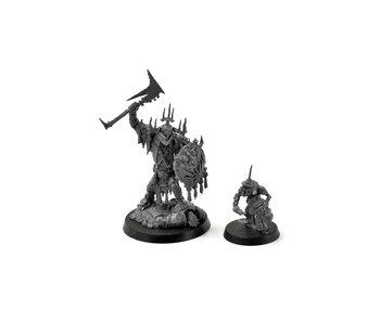 ORRUK WARCLANS Killaboss with Stabgrot #1 Warhammer Sigmar