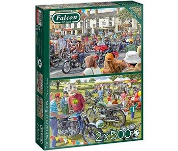 Falcon de luxe 2 x 500 Puzzles - The motorcycle Show