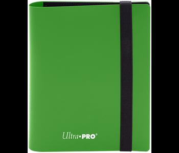 Ultra Pro Binder Pro Eclipse 2Pkt Lime Green