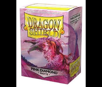 Dragon Shield Sleeves Matte Pink Diamond 100Ct