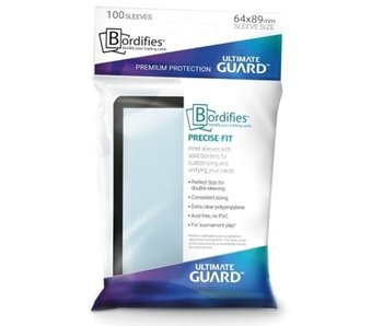 Ultimate Guard Sleeves Precise Fit Bordifies Black 100Ct