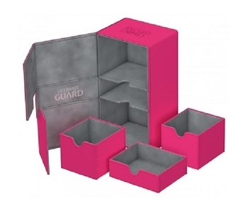 Ultimate Guard Twin Flip N Tray Deck Case Xenoskin Pink 200+