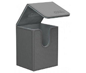 Ultimate Guard Flip Deck Case Xenoskin Grey 80+