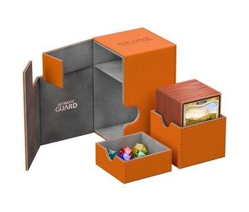Ultimate Guard Flip N Tray Deck Case Xenoskin Orange 100+