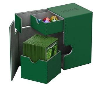 Ultimate Guard Flip N Tray Deck Case Xenoskin Green 100+