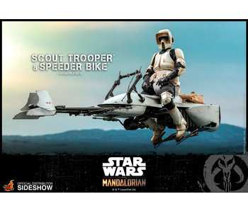 Scout Trooper and Speeder Bike Sixth Scale Collectible Figure Set - Star Wars - The Mandalorian (Hot Toys)
