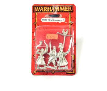 HIGH ELF Archer Command METAL Warhammer Fantasy 8505E