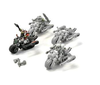 ORKS 4 Bikers #1 METAL Warhammer 40k
