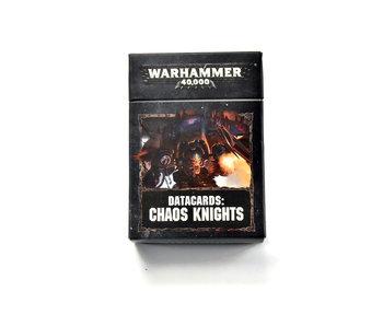 CHAOS KNIGHTS Datacards Warhammer 40k