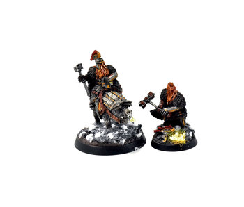 MIDDLE-EARTH Dain Ironfoot, Foot & Mounted #1 WELL PAINTED FW TheHobbit