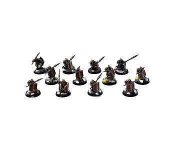MIDDLE-EARTH Iron Hills 12 Dwarf Warriors #2 WELL PAINTED Forge World The Hobbit