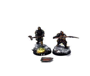 MIDDLE-EARTH Iron Hills 2 Dwarf Warriors #3 WELL PAINTED Forge World The Hobbit