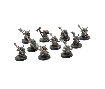 CITIES OF SIGMAR 10 warriors dwarfs with 2 handed axes #3 Sigmar