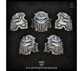Puppetswar Iron Skull Shoulder Pads (S262)