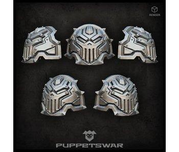 Puppetswar H.I. Iron Skull Shoulder Pads (S263)
