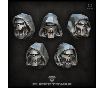 Puppetswar Hooded Iron Mutants Heads (S280)