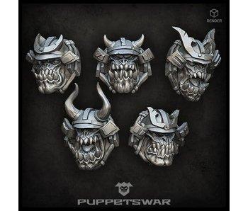 Puppetswar Samurai Orc Heads (S393)