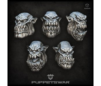 Puppetswar Orc Heads (S392)