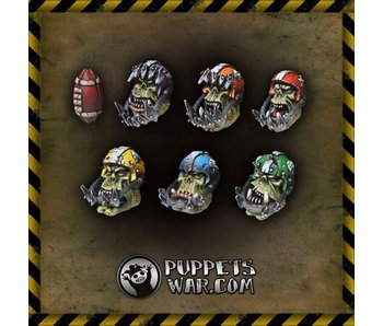 Puppetswar Orc Football Team heads (S229)