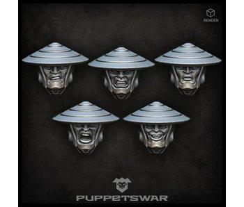 Puppetswar Ashigaru heads (S219)