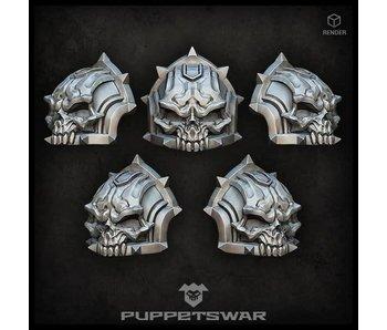 Puppetswar H.I. Skull shoulder pads (S233)