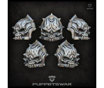 Puppetswar Skull shoulder pads (S234)
