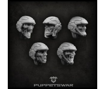 Puppetswar Zombie Troopers heads (S060)
