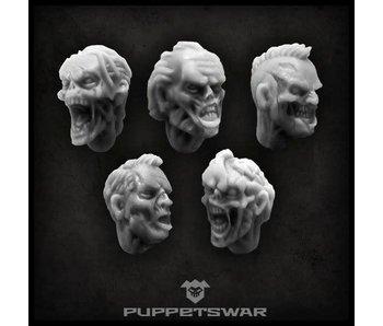 Puppetswar Zombie heads (S088)