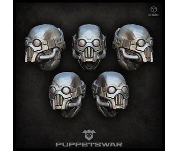 Puppetswar Raiders heads (S126)